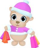 Ходя по магазинам медведь Стоковая Фотография RF