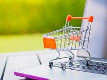 Ходя по магазинам онлайн концепция: Стоковое Изображение RF