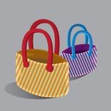 Ходя по магазинам установленная мода сумки Стоковые Изображения