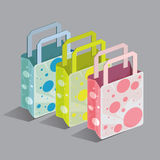 Ходя по магазинам установленная точка моды сумки Стоковое Изображение