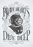 Храброе пикирование сердец глубоко бесплатная иллюстрация