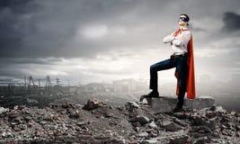 Храбрый супергерой стоковая фотография
