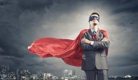 Храбрый супергерой стоковое фото