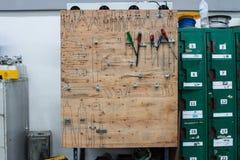 Хранение инструмента доски, набор хранения инструмента Handmade Стоковое Изображение