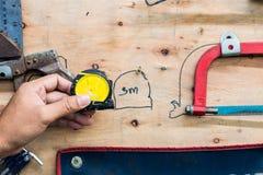 Хранение инструмента доски, набор хранения инструмента Handmade Стоковая Фотография RF