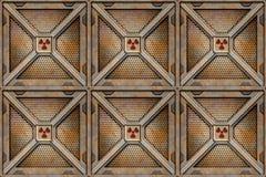 хранение клетей коробки радиоактивное бесплатная иллюстрация