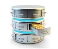 Хранение отдаленных данных, обслуживание облака вычисляя и концепция технологии сетевого сервера Стоковое Изображение