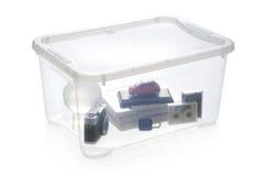 хранение пластмассы коробки Стоковая Фотография