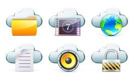 хранение принципиальной схемы облака Стоковые Фотографии RF