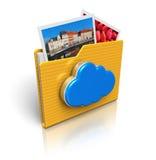 хранение средств принципиальной схемы облака вычисляя иллюстрация штока
