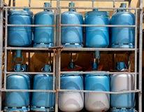 Хранение с бутылками газа Стоковые Изображения
