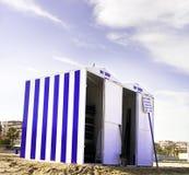 хранение хат пляжа Стоковая Фотография