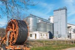 Хранение хлопьев, продукция лэндфилл-газа и irrigator Стоковое Изображение