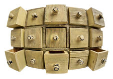 хранение ящика данным по принципиальной схемы шкафа Стоковое Фото