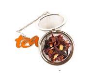 Хранитель чая с чаем плодоовощ Стоковое Изображение