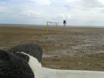 Хранитель на пляже Стоковые Фотографии RF