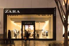 храньте zara Zara одно из самых больших международных компаний и его моды ` s сетевой магазин корабля- флагмана группы Inditex Стоковая Фотография RF