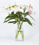 Хризантема, гвоздики и белые лилии Стоковые Изображения RF