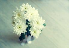 хризантемы букета белые Стоковая Фотография