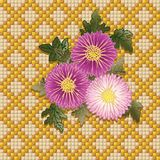 хризантемы букета иллюстрация штока