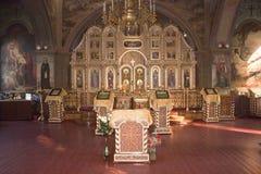 Христианин церков Внутренний интерьер Стоковое Изображение