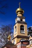 христианка придает куполообразную форму: ortodoxal висок spaso preobra стоковая фотография