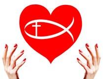 христианская влюбленность иллюстрация вектора