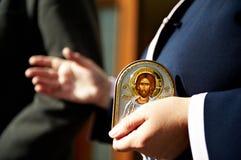 христианская икона правоверная стоковая фотография