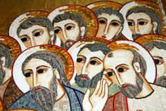 Христианская мозаика стоковая фотография rf