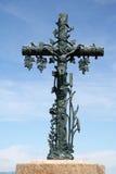 христианская перекрестная статуя Стоковое Изображение RF