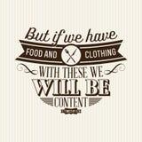 Христианская печать Но если мы имеем еду и одежду с этими, то мы будем содержанием иллюстрация штока