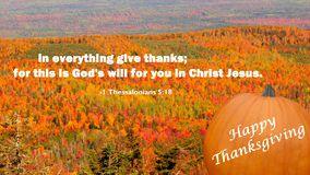 Христианская поздравительная открытка дня благодарения сообщения бесплатная иллюстрация