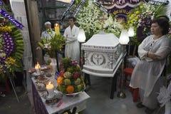 Христианская похоронная церемония в Вьетнаме стоковые фотографии rf