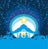 Христианская сцена рождества рождества младенца Иисуса в кормушке Стоковая Фотография RF