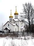 Христианская церковь в зимнем дне Стоковая Фотография RF