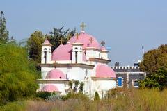 Христианская церковь в Capernaum Стоковое Изображение RF