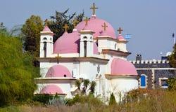 Христианская церковь в Capernaum Стоковые Изображения RF