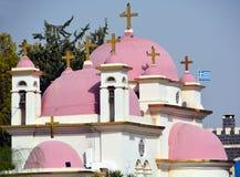 Христианская церковь в Capernaum Стоковое фото RF