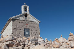 Христианская церковь на утесе Стоковое Изображение RF