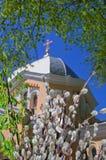христианская церковь правоверная Торжество Ладонь воскресенье Стоковые Фотографии RF