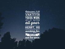 Христианская цитата библии стоковое изображение rf