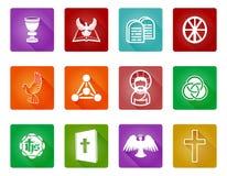 Христианские значки вероисповедания Стоковое Изображение RF
