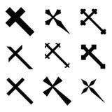 христианские кресты иллюстрация вектора