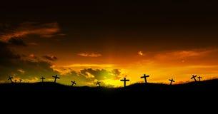 христианские кресты стоковые изображения rf