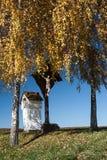 Христианские святыня и крест wayside Стоковая Фотография RF