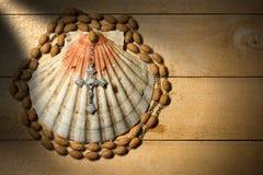 Христианские символы паломничества Стоковое фото RF