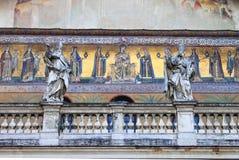христианские средневековые мозаики стоковая фотография