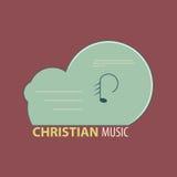 Христианский значок музыки Стоковые Фото