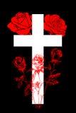 Христианский крест и поднял 4 Стоковое фото RF