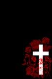 Христианский крест и поднял 5 Стоковое Изображение